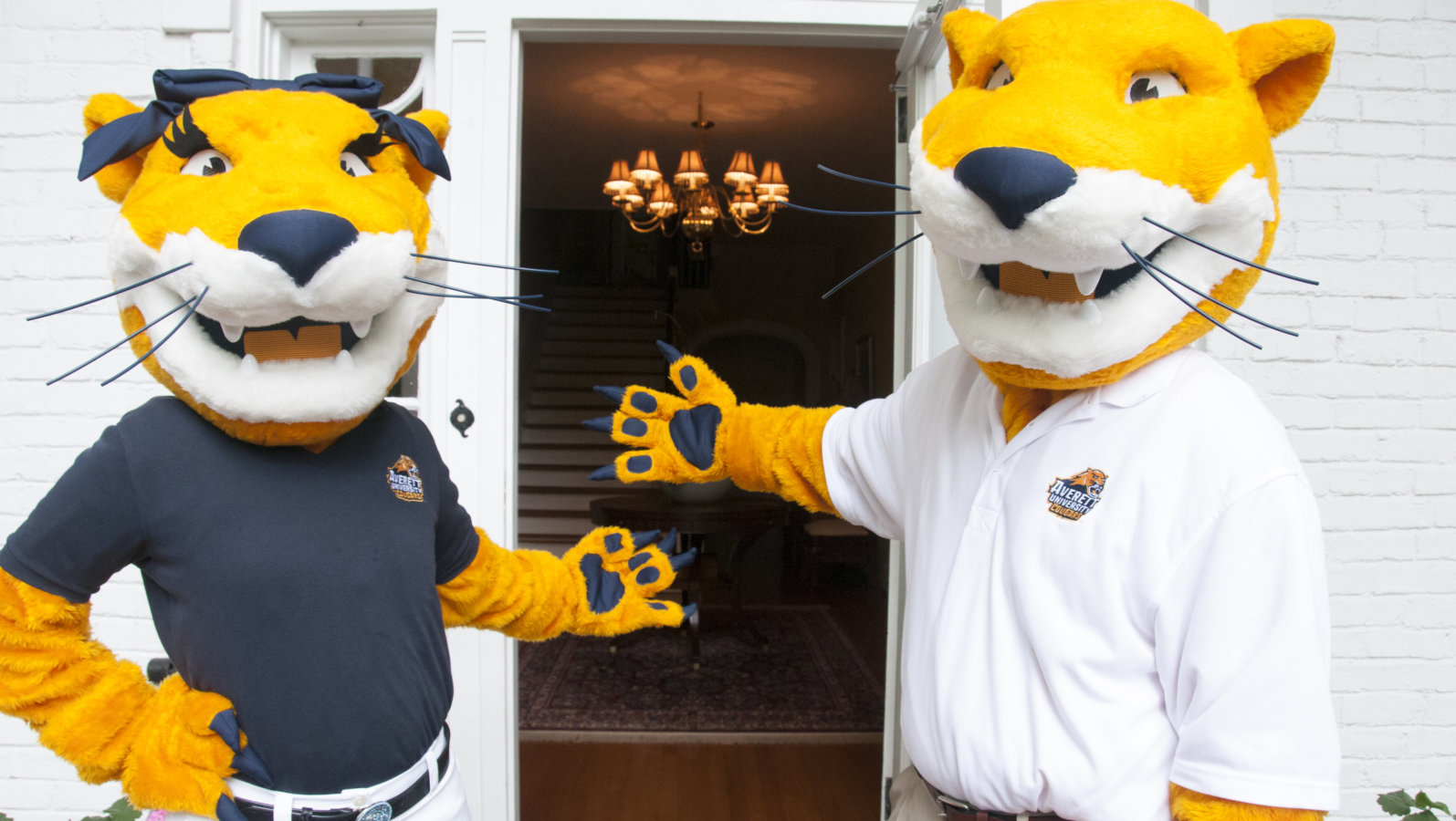 averett mascots welcoming new students